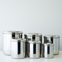 Canisters Kitchen Curtians Stainless Steel Set Of 6 On Food52