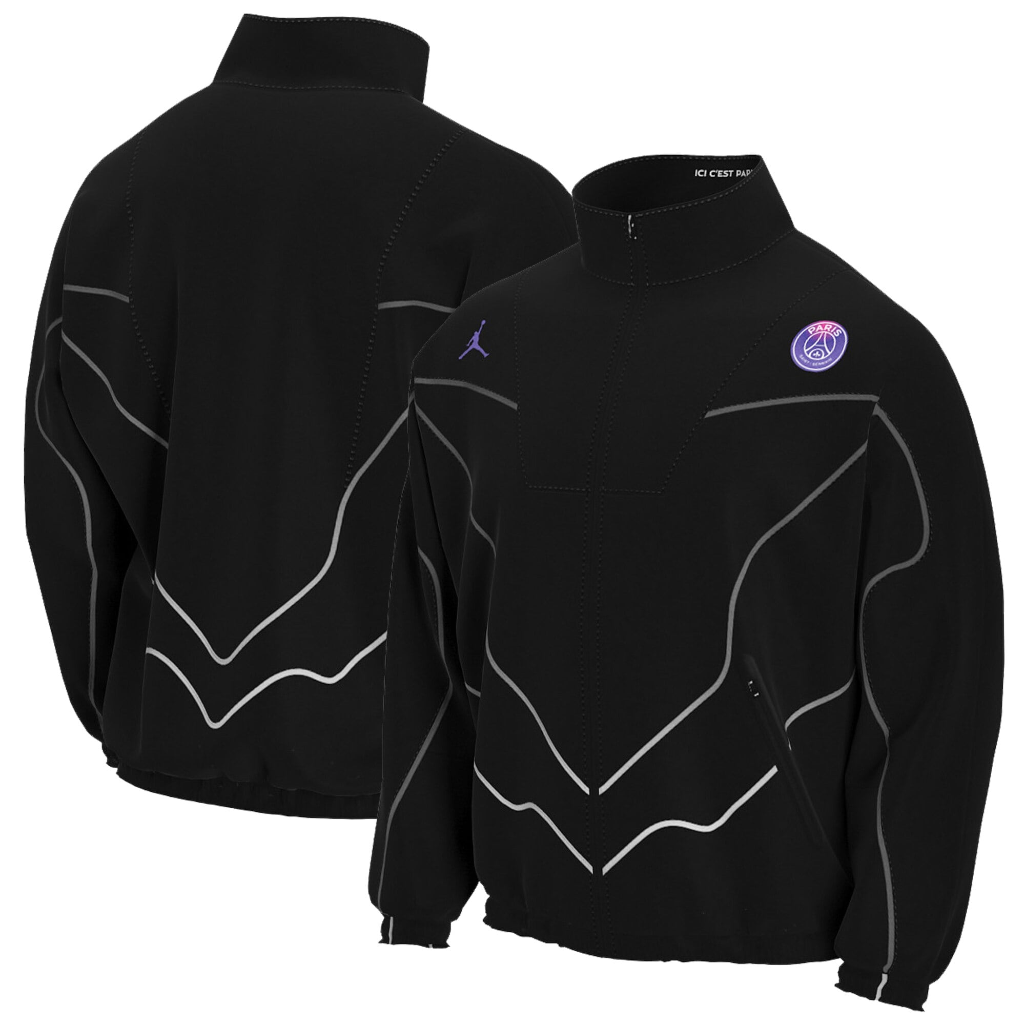 paris saint germain x jordan anthem jacket black