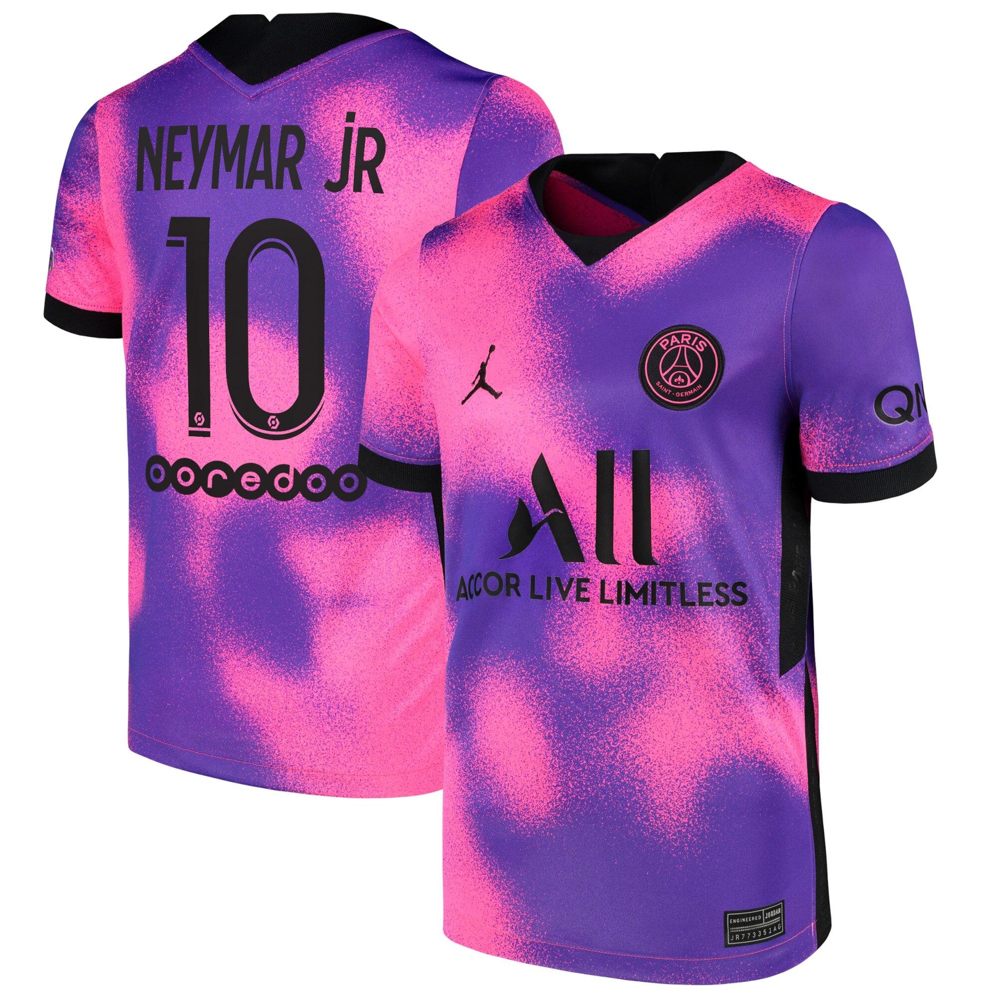 paris saint germain x jordan fourth stadium shirt 2020 21 kids with neymar jr 10 printing
