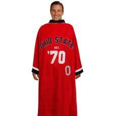Ohio State Buckeyes Unisex Scarlet Uniform Snuggie Blanket