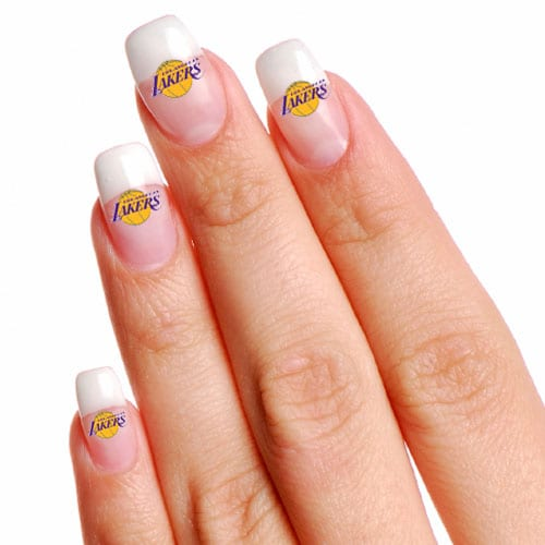 Los Angeles Lakers 4-Pack Temporary Nail Tattoos