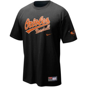Nike Baltimore Orioles Black MLB Practice T-shirt
