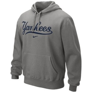 Nike New York Yankees Classic Pullover Hoodie - Ash