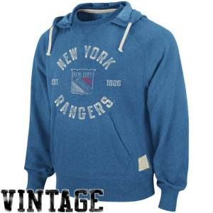 Reebok New York Rangers Crew Hoodie Sweatshirt - Steel Blue