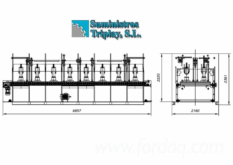 TALLERES MARCH Veneer faced board production line
