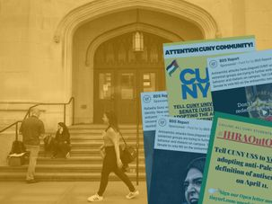 CUNY photo illustration about IHRA by the Forward