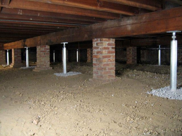 Crawl Space Support Systems  SmartJack Crawlspace Floor