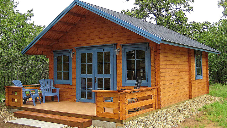 You Can Buy A Log Cabin Style Tiny House For Less Than