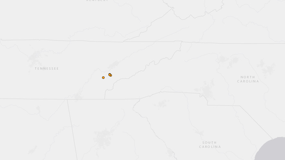5 earthquakes rattle Tennessee-North Carolina border, USGS says ...