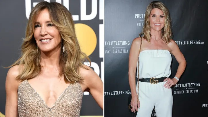 Hollywood Actresses Felicity Huffman And Lori Loughlin