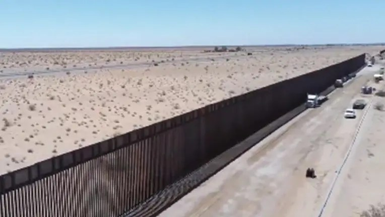 Border Patrol Releases Drone Footage Showing Miles Of New