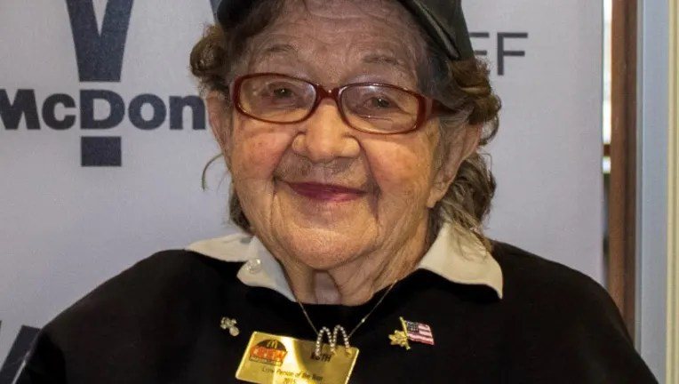 'I feel I'm the lucky one': McDonald's employee turns 100 years old with no plans to retire