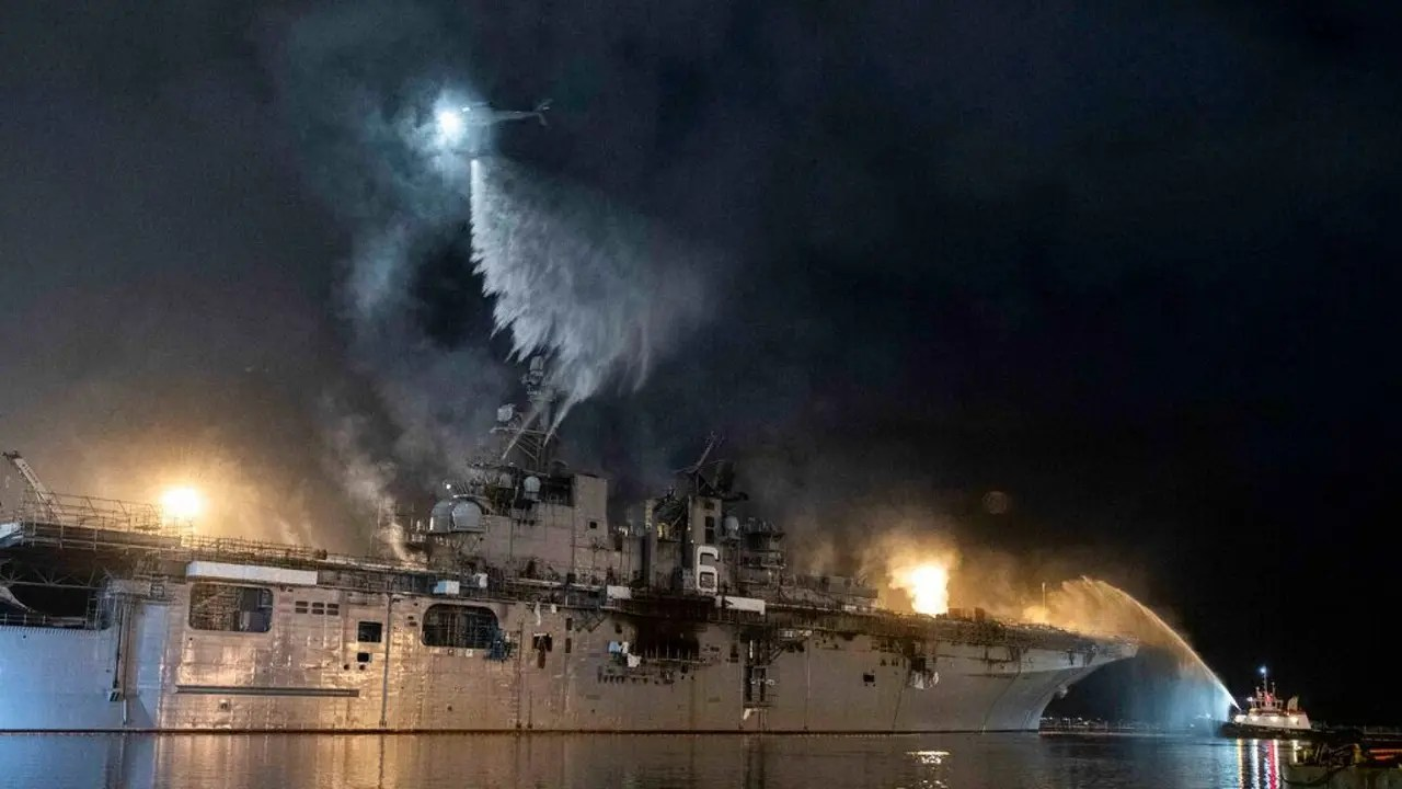 Us Navy Says Fire Has Been Put Out Aboard Uss Bonhomme