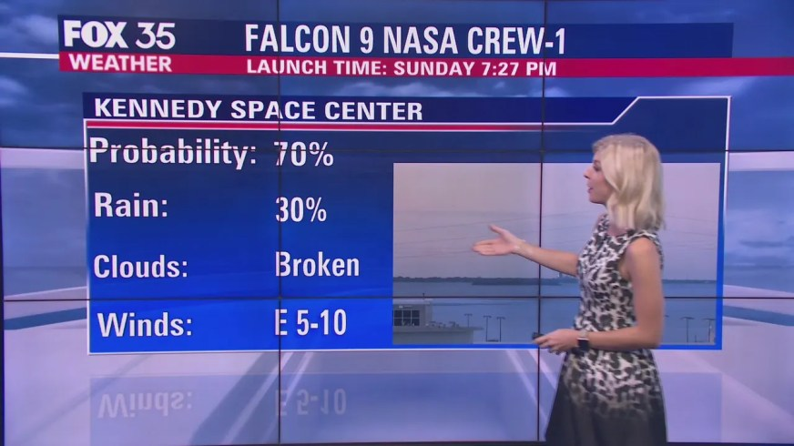 Weather conditions good for SpaceX launch