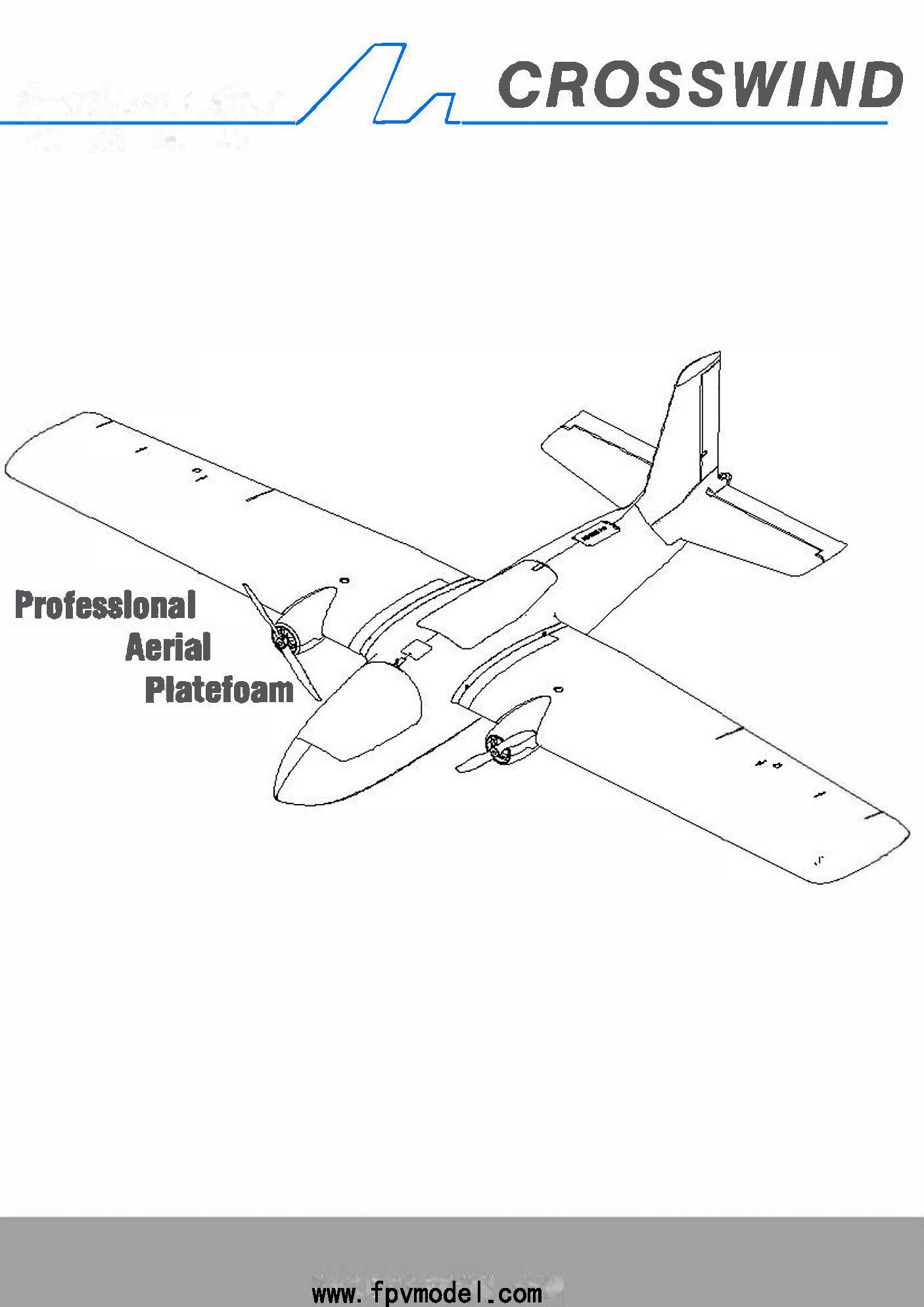 MFD Crosswind Nimbus Pro V2 1900mm FPV Plane Frame Kit