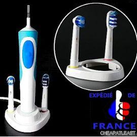 Embase Support Porte Brossettes 2 Pour Brosse A Dent Electrique Oral B Chargeur Non Inclus Rakuten
