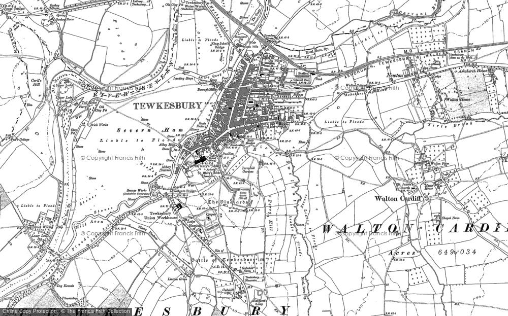 Old Maps Of Tewkesbury Francis Frith