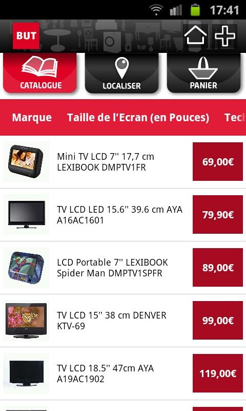magasins but ont leur application android