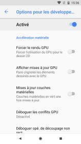 Android 81 options pour les développeurs (5)