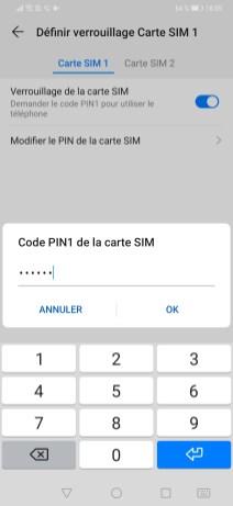 changer code pin huawei 7