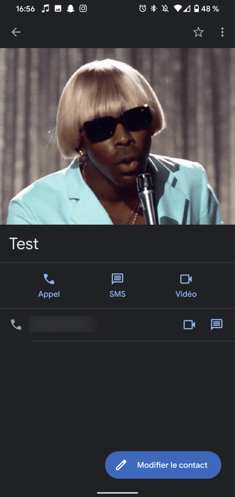 Photo Contact Android 8