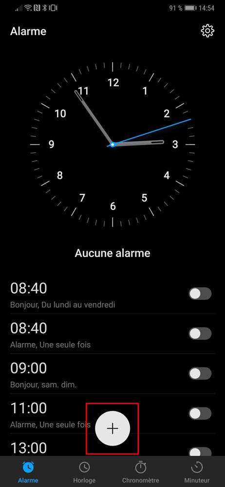 Comment régler l'alarme sur Android Tutoriel pour débutant