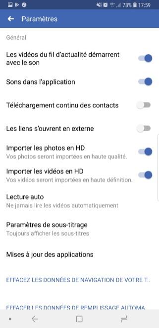 Facebook lecture vidéo