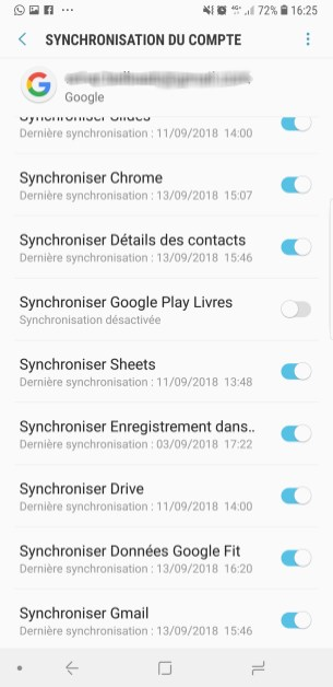 compte Google sync 2