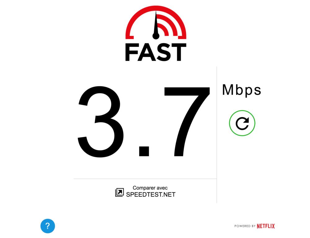 Fast.com, testez la vitesse de votre connexion Internet en