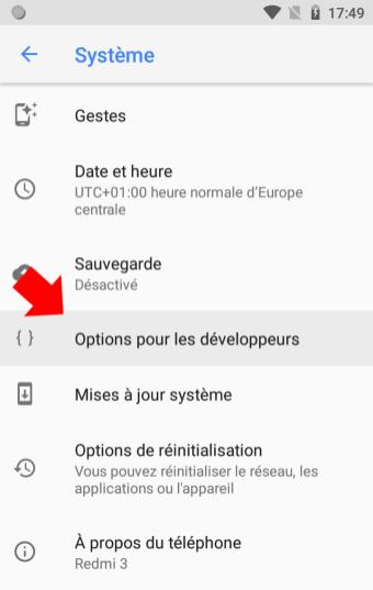 Android 81 Options de développeurs développement tuto 2