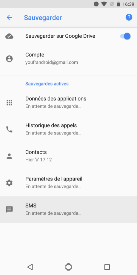 Android 8 sauvegarde SMS (1)