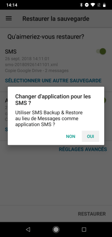 SMS Backup restaurer messages (3)