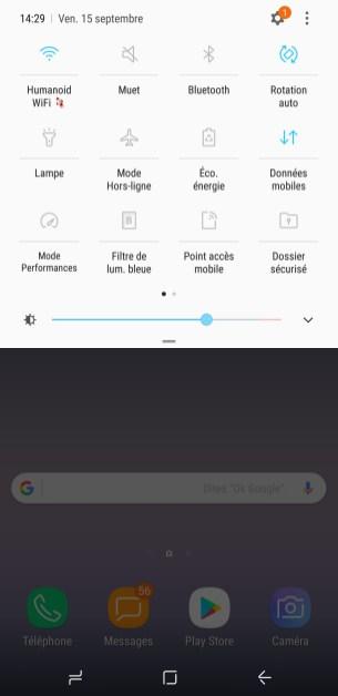 Une interface complète, mais sobre