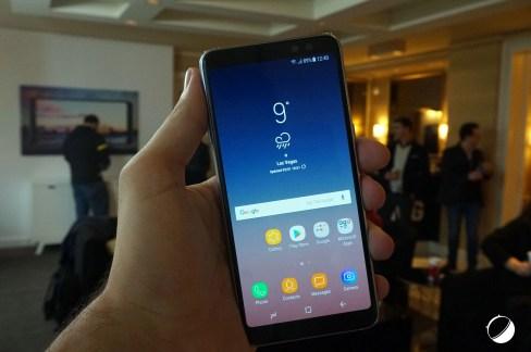 L'écran du Galaxy A8 (2018)