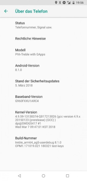 Samsung Galaxy S9 AOSP 81 2
