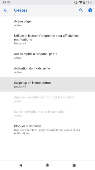 Android P Beta Google Pixel 2 activer gestes (3)