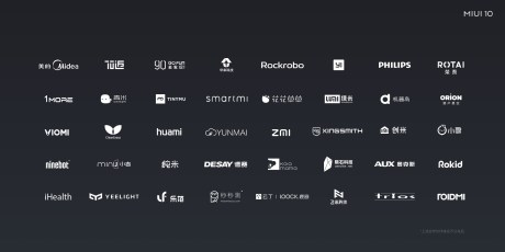 MIUI 10 domotique ecosystem fabricants