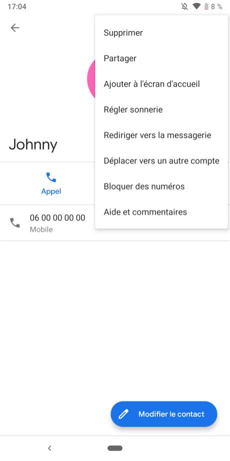 Bloquer Contact Google Pixel (1)