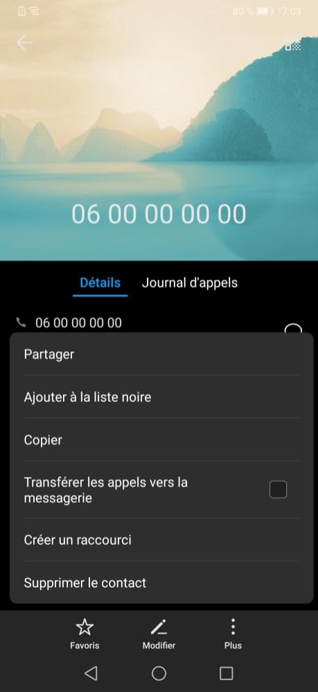 Bloquer Contact Huawei EMUI (1)