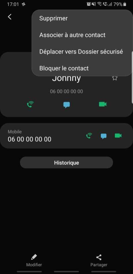 Bloquer Contact Samsung One UI (2)