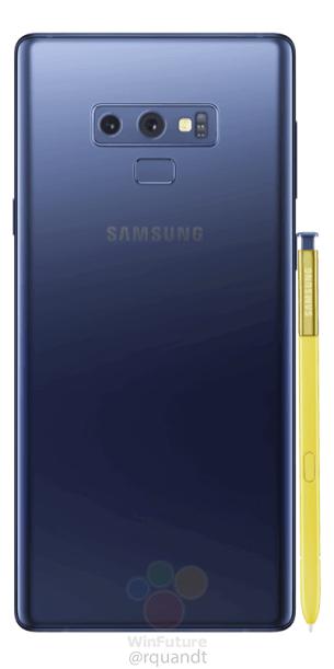 Samsung-Galaxy-Note9 bleu dos