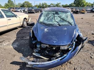Tesla Model 3 destroyed