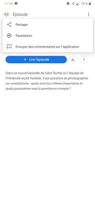 Comment partager un podcast sur Podcasts Google