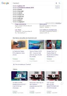 Google Search Material Design résultats 1