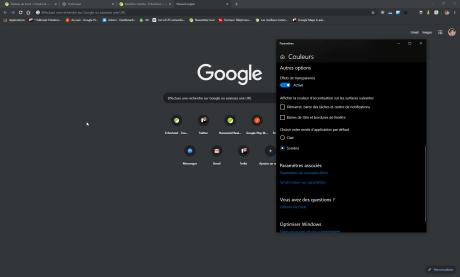 Chrome sombre Windows 10