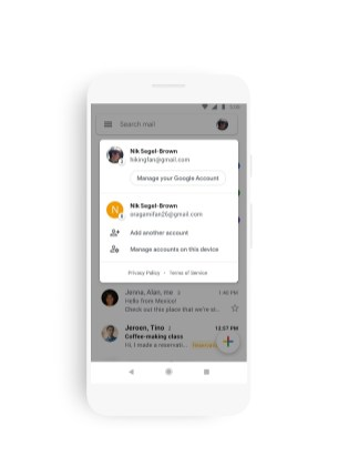 Gmail nouvelle interface Material Design 4