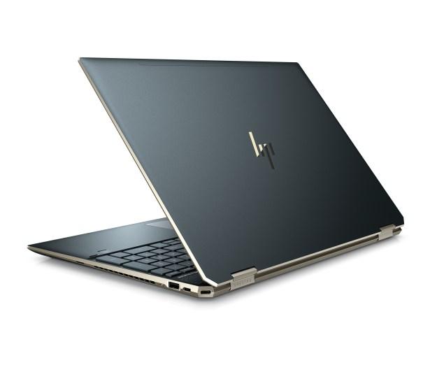 HP Spectre x360 15 back facing in poseidon blue