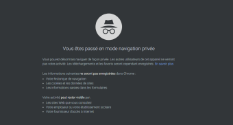 Navigation privée Chrome