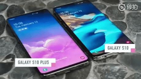 Samsung Galaxy S10 fuite prise en main leak twitter (2)