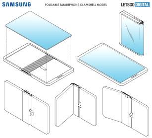 Brevet Samsung smartphone pliable